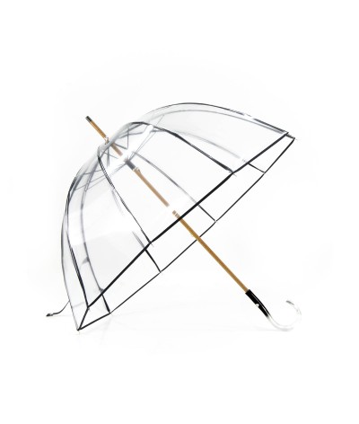 "→ Parapluie ""Cloche Transparent"" - Noir - Parapluie Made in France par Maison Pierre Vaux"