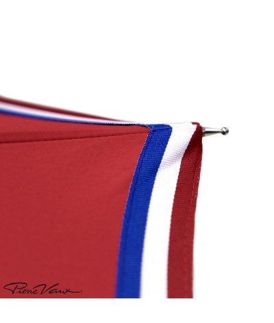 """→ """"The Made in France"""" Umbrella - Red - Long manual - Handcrafted in France by Maison Pierre Vaux"""