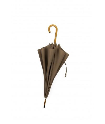 """→ Umbrella-Parasol - """"The Plains"""" - Taupe - Long manual - Umbrella Manufacturer Maison Pierre Vaux"""