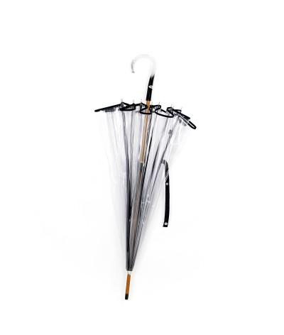 """→  Parapluie """"Cloche Transparent"""" - Noir - Parapluie Made in France par Maison Pierre Vaux"""