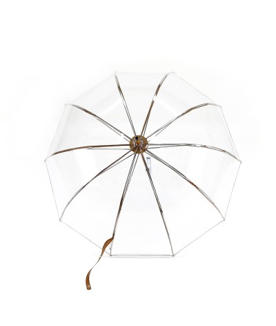 "→ ""Transparent Bell"" Umbrella - Vegetal - Long Manual - handcrafted in France by Maison Pierre Vaux"