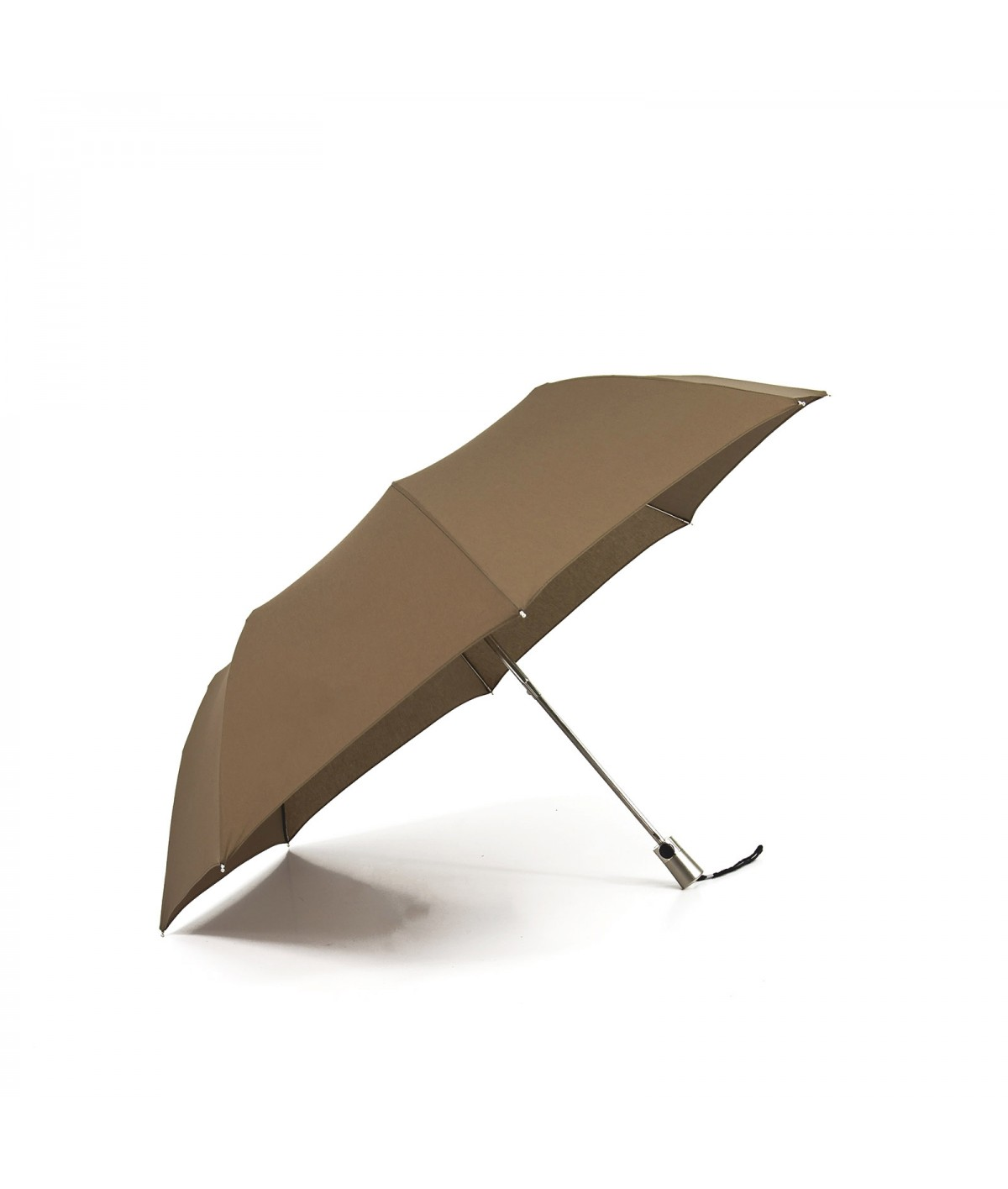"→ Umbrella-Parasol - Limited Edition ""The United"" - Taupe handcrafted in France by Maison Pierre Vaux"