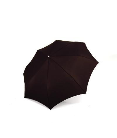 "→ Longchamp - ""Men's Umbrella"" Chocolate - Mini Automatic - by the French Umbrellas Manufacturer Maison Pierre Vaux"