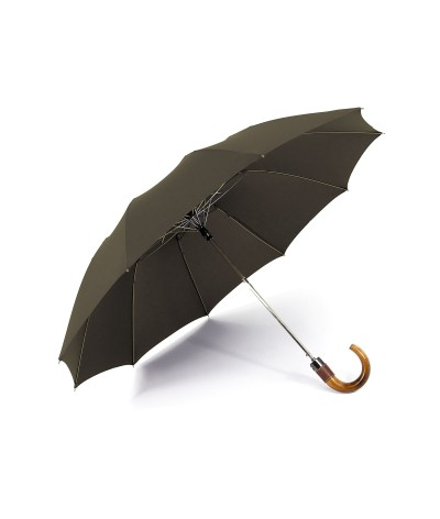 """→  Longchamp - Umbrella """"Top Automatic"""" - Taupe by the French Umbrellas Manufacturer Maison Pierre Vaux"""