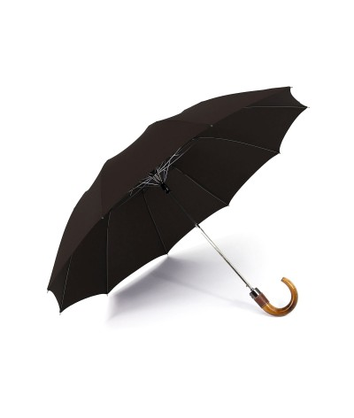 "→ Longchamp - Parapluie ""Top Automatique"" - Chocolat - Confection par Maison Pierre Vaux"