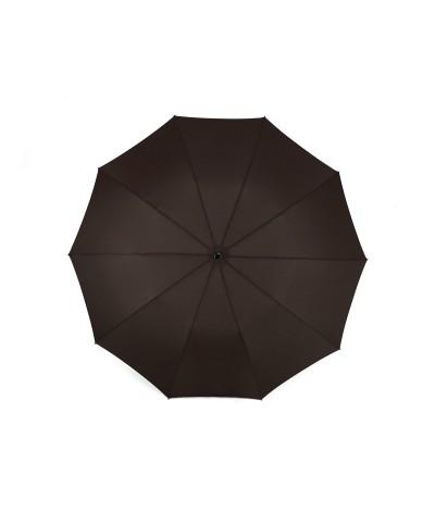 "→  Longchamp - Umbrella ""Top Automatic"" - Chocolate by the French Umbrellas Manufacturer Maison Pierre Vaux"