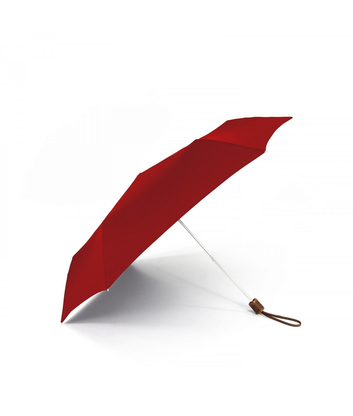 """→ Longchamp - Parapluie """"Micro Pliage"""" - Rouge - Parasolerie Maison Pierre Vaux"""