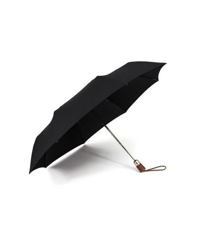 """→ Longchamp Parapluie """"Pliage Automatique Unis"""" - Noir -  Parapluie Haut de Gamme"""