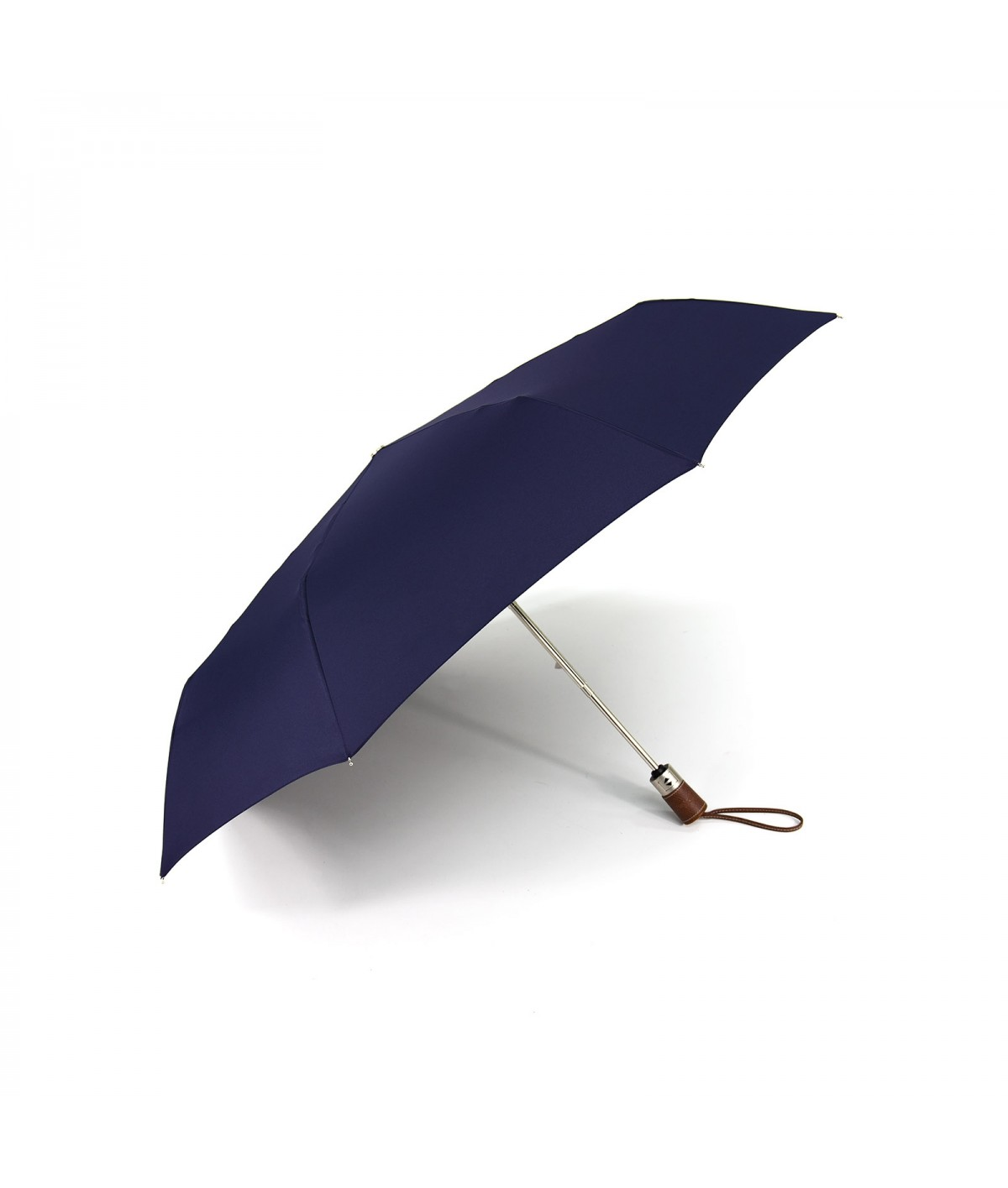 """→ Longchamp Umbrella """"Folding"""" - Navy - Automatic opening/closing - Handcrafted in France by Maison Pierre Vaux"""