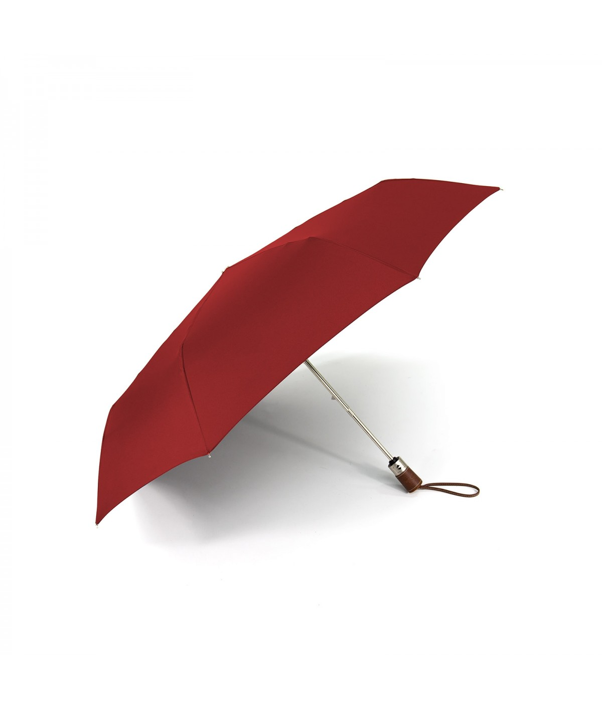 "→ Longchamp Umbrella ""Folding"" - Red - Automatic opening/closing - Handcrafted in France by Maison Pierre Vaux"