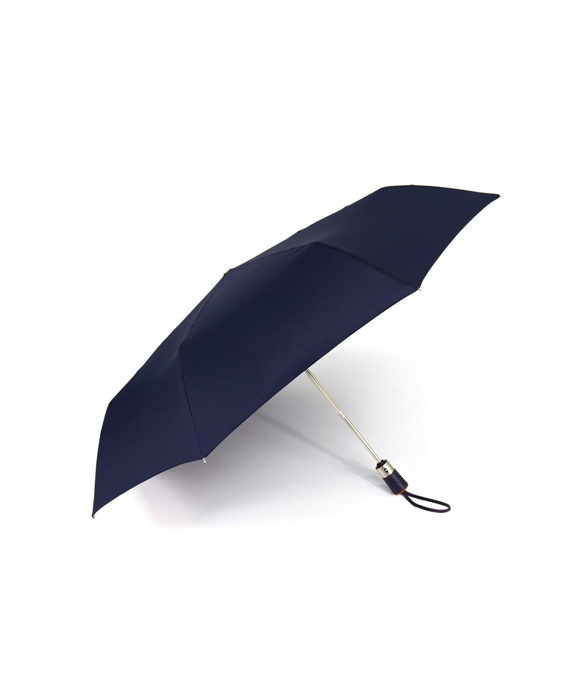 """→ Longchamp Parapluie """"Pliage Club Automatique"""" - Navy -  Parapluie Pliant Automatique"""
