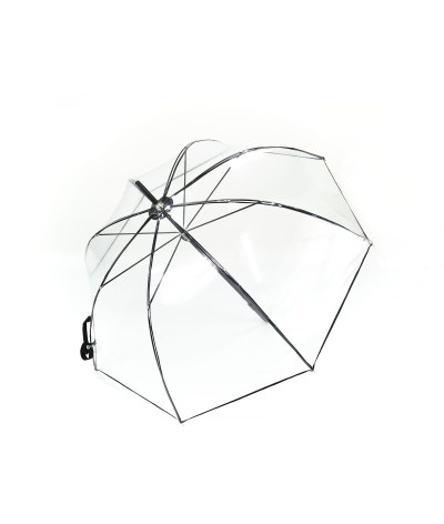 "→ Longchamp Parapluie ""Transparent"" - Noir- Confection par Maison Pierre Vaux"