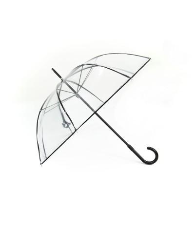 """→ Longchamp Parapluie """"Transparent"""" - Noir- Confection par Maison Pierre Vaux"""