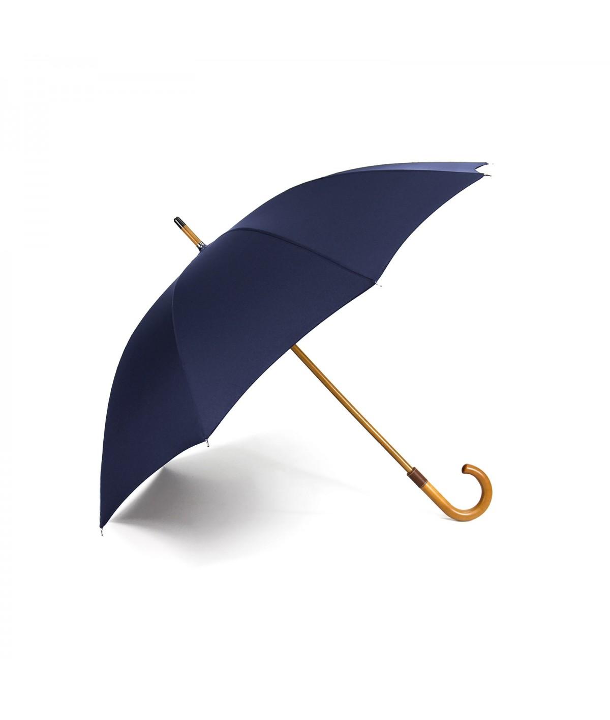 "→ Longchamp Umbrella ""Classic Men"" Navy - Manual opening by the French Umbrellas Manufacturer Maison Pierre Vaux"