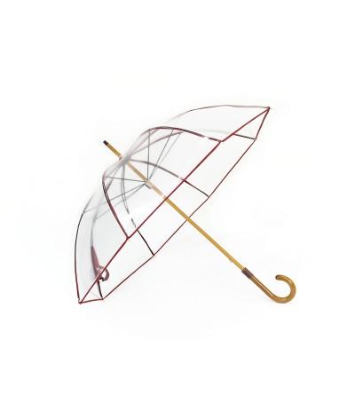 """Longchamp - Parapluie """"Transparent"""" - Rouge"""