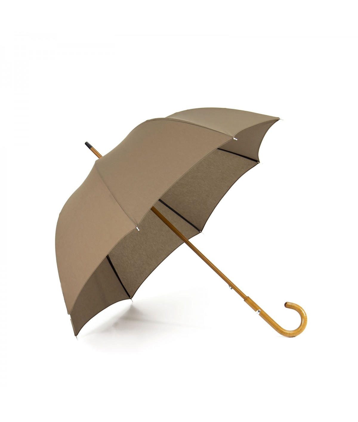 "→ Umbrella-Parasol - ""The Plains"" - Taupe - Long manual - Umbrella Manufacturer Maison Pierre Vaux"