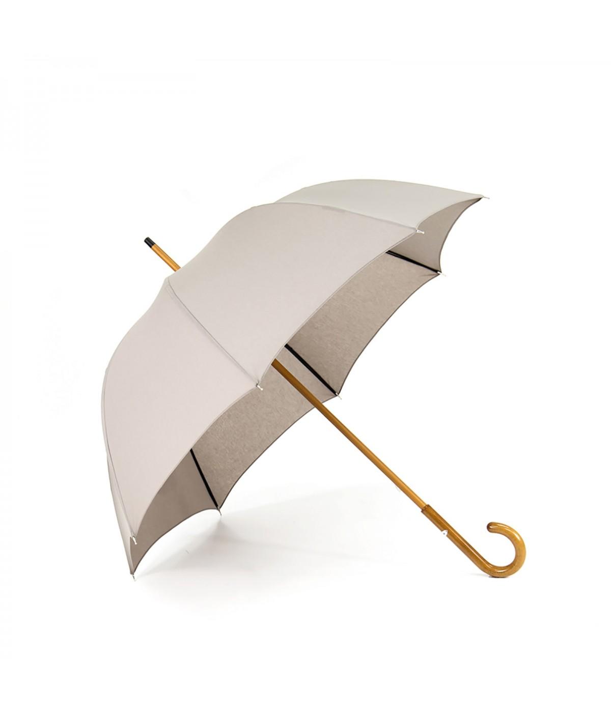 "→ Umbrella-Parasol - ""The Plains"" -  Grey Mastic - Long manual - Umbrella Manufacturer Maison Pierre Vaux"