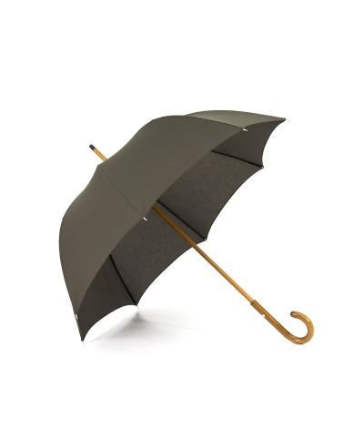 """→ Umbrella-Parasol - """"The Plains"""" - Khaki - Long manual - Umbrella Manufacturer Maison Pierre Vaux"""