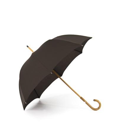 """→ Umbrella-Parasol - """"The Plains"""" - Chacolate - Long manual - Umbrella Manufacturer Maison Pierre Vaux"""