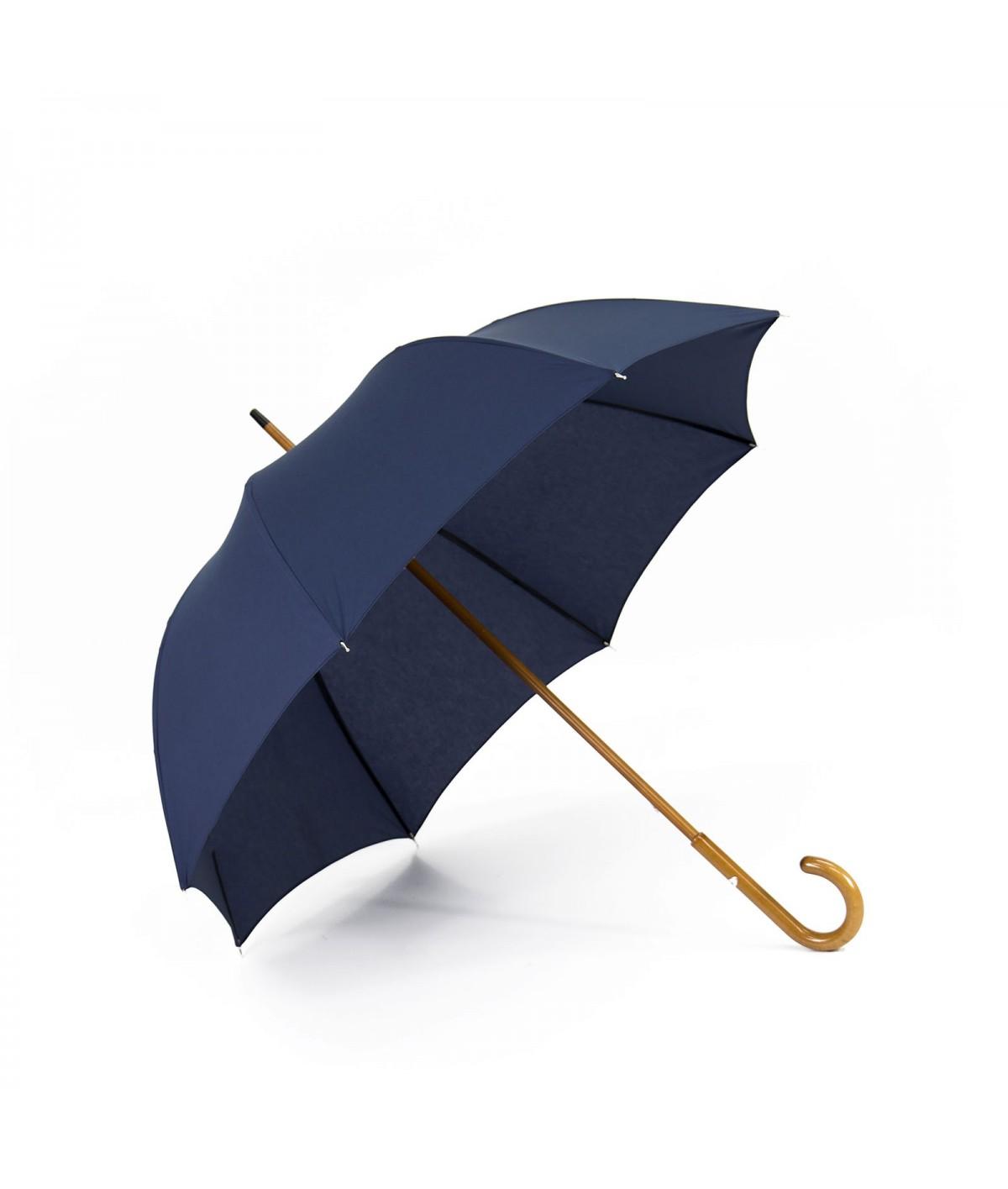 """→ Umbrella-Parasol - """"The Plains"""" - Navy - Long manual - Umbrella Manufacturer Maison Pierre Vaux"""