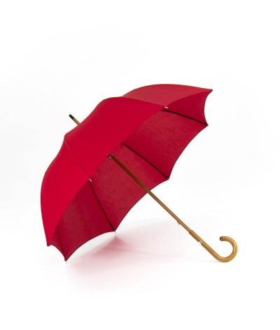 """→ Umbrella-Parasol - """"The Plains"""" - Red - Long manual - Umbrella Manufacturer Maison Pierre Vaux"""
