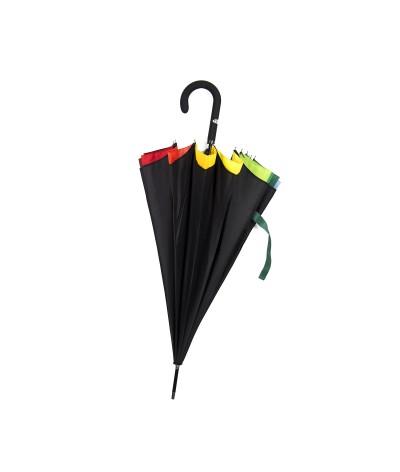 "→  ""Rainbow"" Umbrella - Bright Colors - Automatic Long - Maison Pierre Vaux French Umbrella Manufacturer"