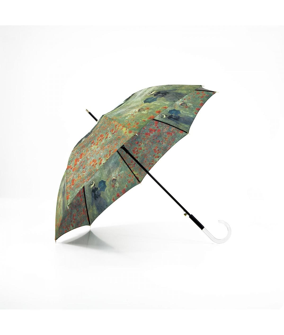 """→ Parapluie Série Limitée """"Les Impressionnistes """" - """"Femme à l'Ombrelle"""" - Long - Claude Monnet - Parapluie de Luxe"""