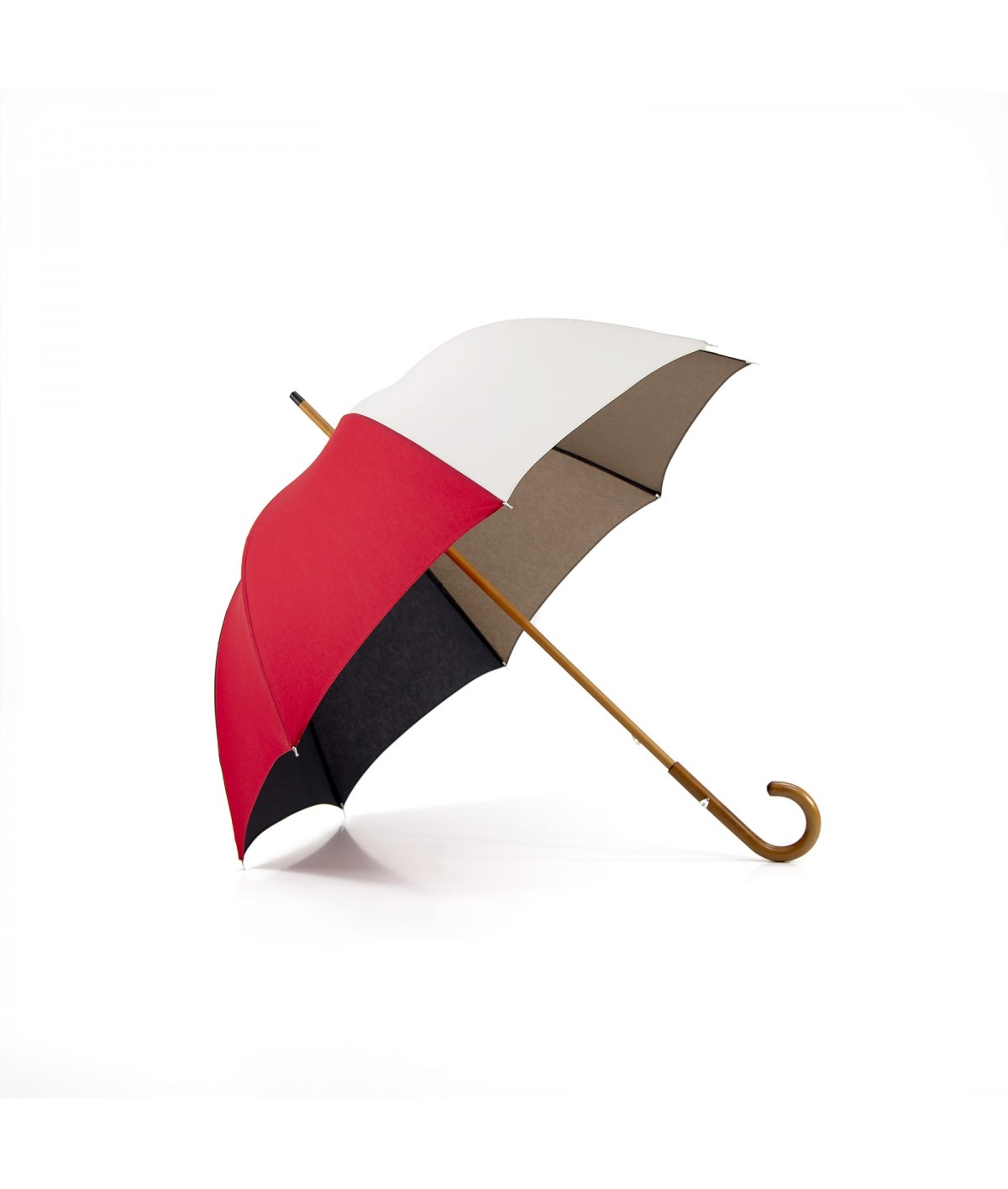 """→ """"The Harmony of Shades"""" Umbrella - Col. N°8 - Long manual Handcrafted by the French Umbrellas Manufacturer Maison Pierre Vaux"""