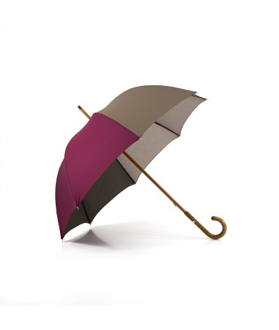"→ Parapluie ""L'Harmonie des Teintes"" - Col. N°9 - Long - Made in France par Maison Pierre Vaux"