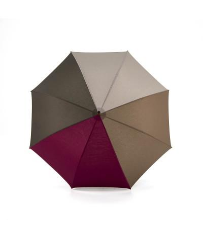 """→ Parapluie """"L'Harmonie des Teintes"""" - Col. N°9 - Long - Made in France par Maison Pierre Vaux"""