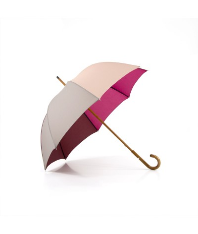 """→ """"The Harmony of Shades"""" Umbrella - Col. N°10 - Long manual Handcrafted by the French Umbrellas Manufacturer Maison Pierre Vaux"""