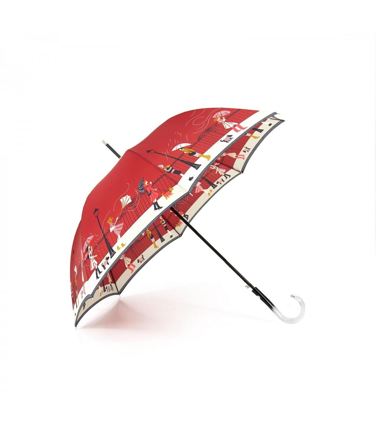 """→ Parapluie """"Tempête"""" - Rouge -  Parapluie Solide et Résistant"""