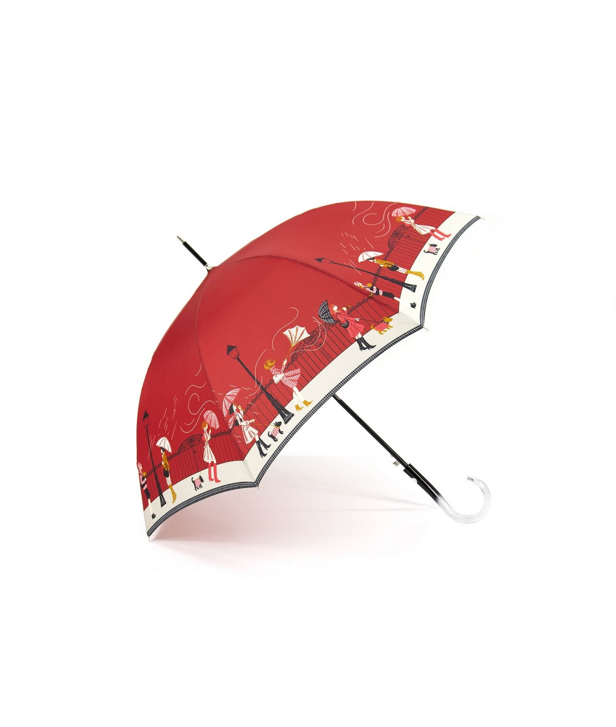"→ Red ""Storm"" Umbrella - Long automatic - by the French Umbrella Manufacturer"