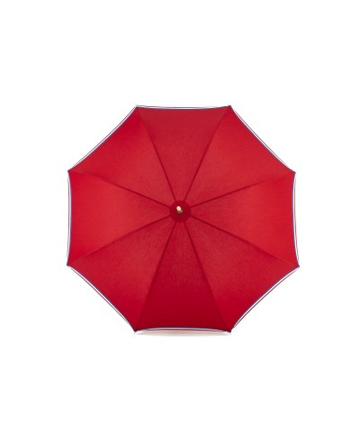 "→ Parapluie ""Le Made in France"" Rouge I Fabrication Traditionnelle à la Main"
