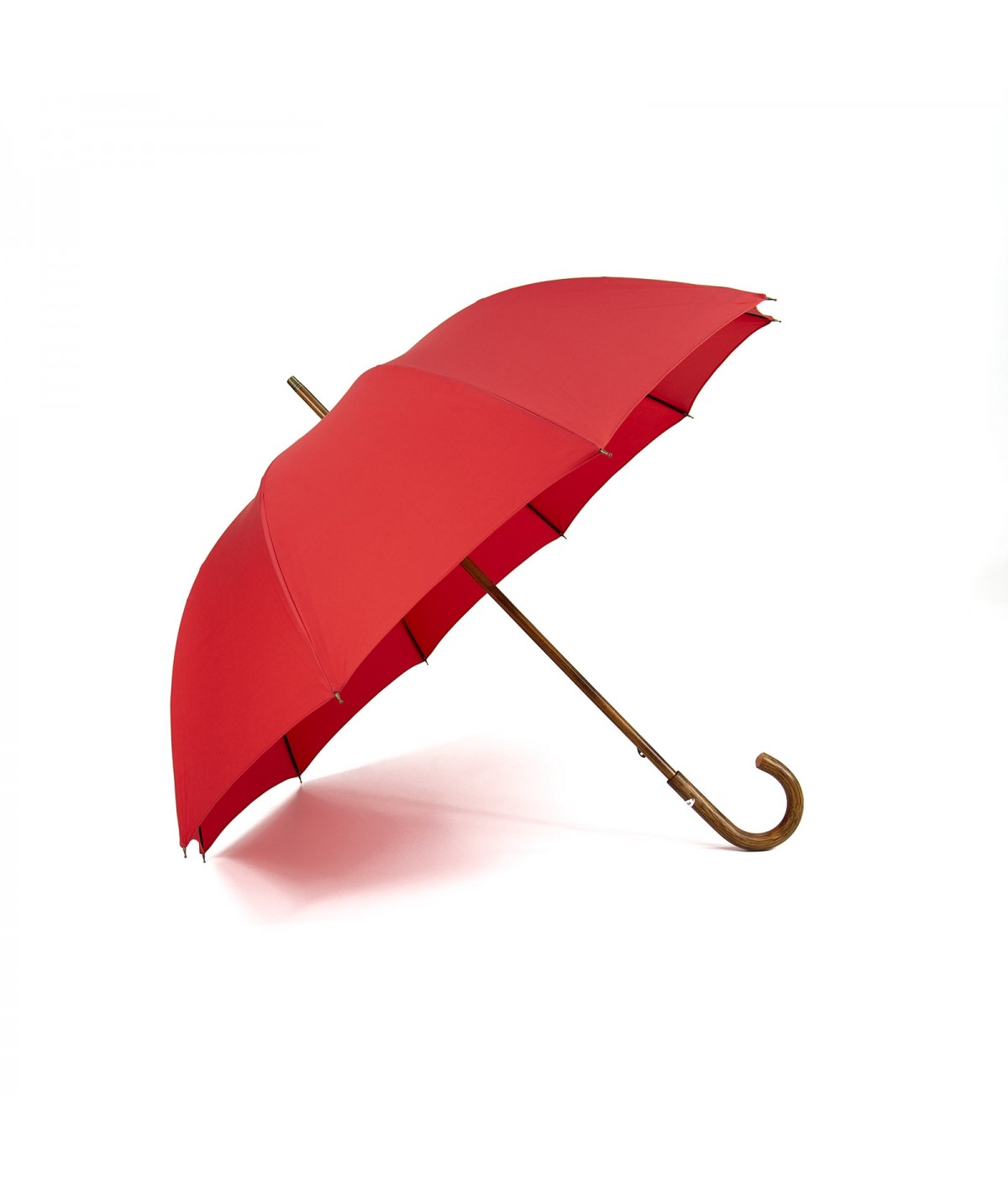 """→ """"The shepherd"""" Umbrella - Red - Long manual - handcrafted in France by Maison Pierre Vaux"""