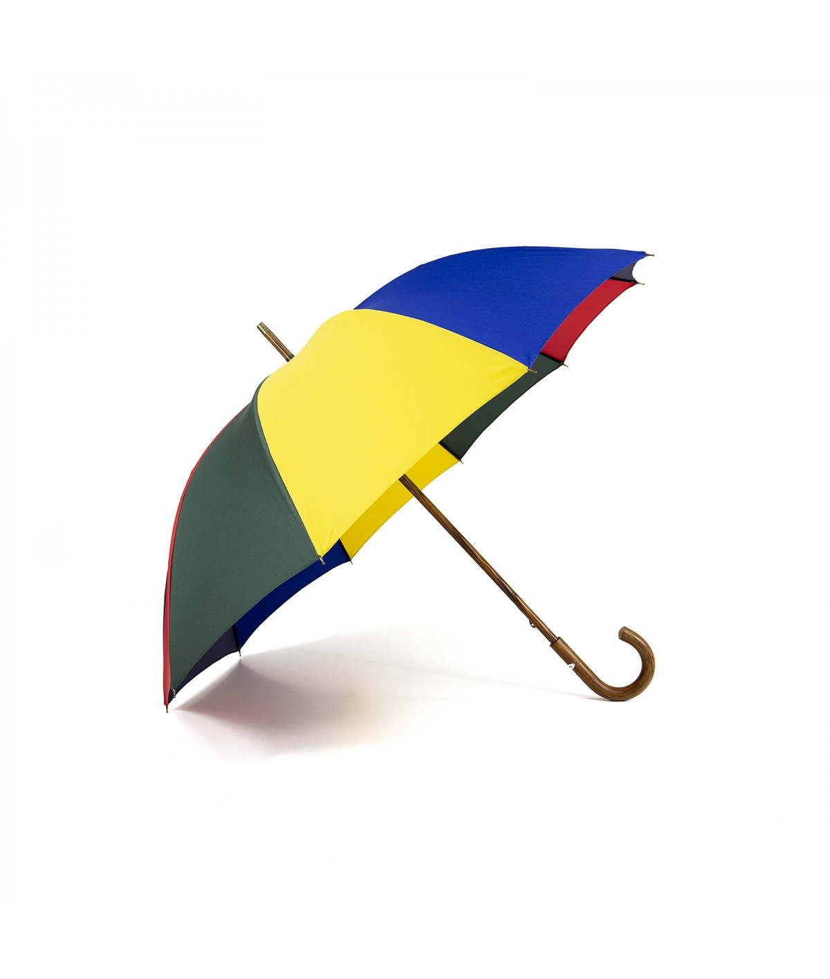 "→ ""The shepherd"" Umbrella - Multicolored - Long manual - handcrafted in France by Maison Pierre Vaux"