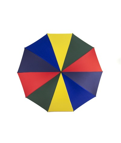 """→ """"The shepherd"""" Umbrella - Multicolored - Long manual - handcrafted in France by Maison Pierre Vaux"""