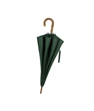 """→ """"The shepherd"""" Umbrella - Green - Long manual - handcrafted in France by Maison Pierre Vaux"""