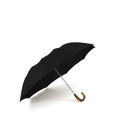 """→ Parapluie """"Le Pratique & Chic"""" Pliant Noir Automatique 10 baleines - Maison Pierre Vaux"""