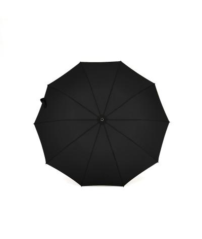 """→ Parapluie """"Le Pratique"""" Pliant Noir Automatique 10 baleines - Maison Pierre Vaux"""