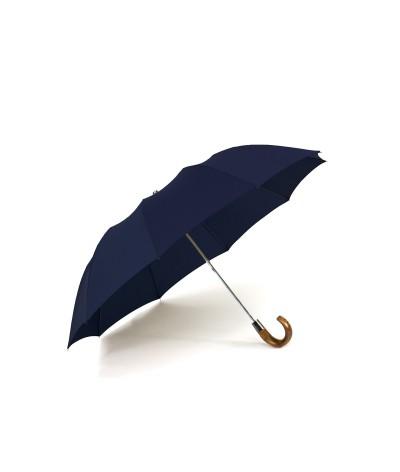 """→ Parapluie """"Le Pratique"""" Pliant Navy - Automatique 10 baleines - Maison Pierre Vaux"""