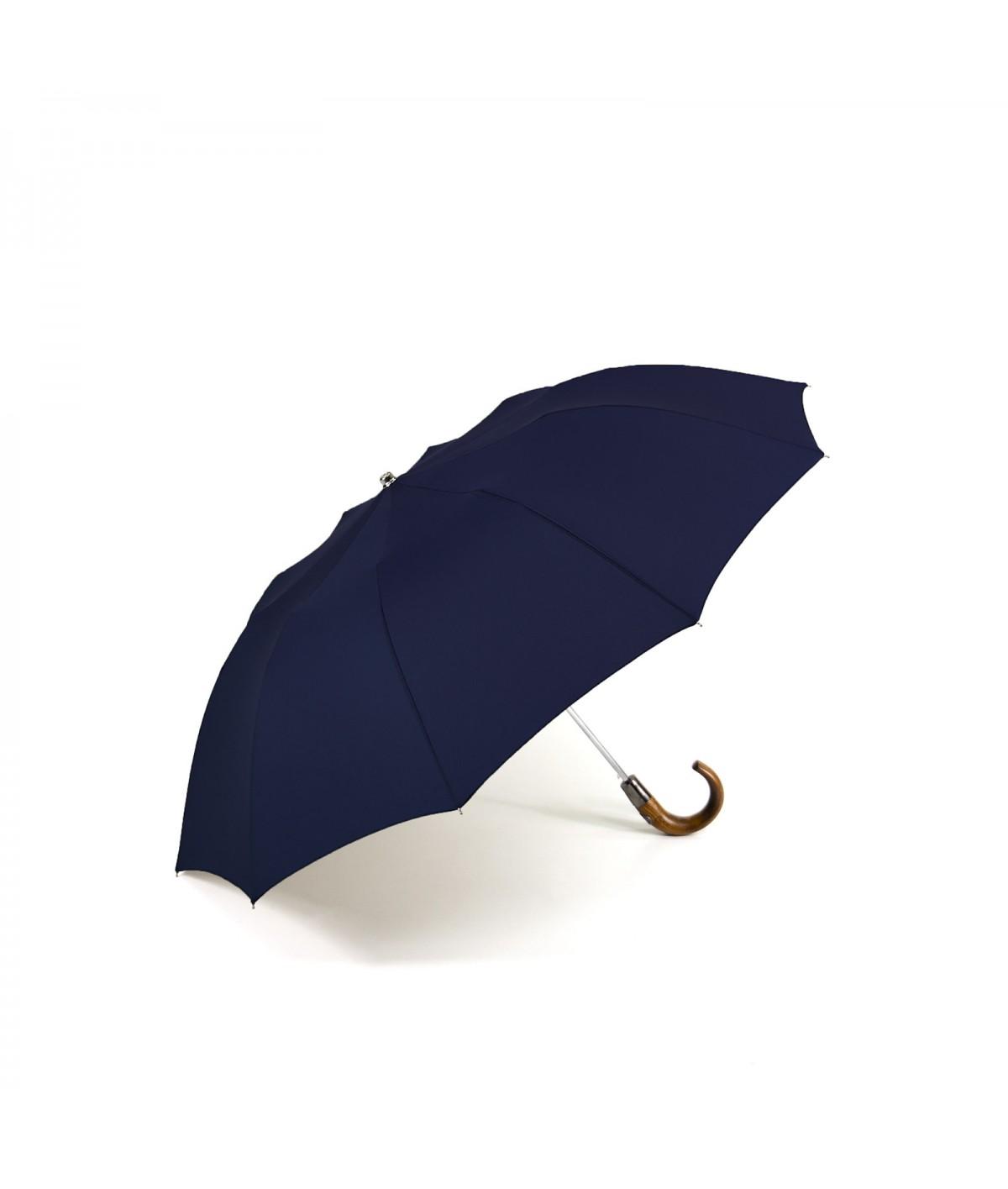 """→ Parapluie """"Le Pratique & Chic"""" Pliant Navy - Automatique 10 baleines - Maison Pierre Vaux"""