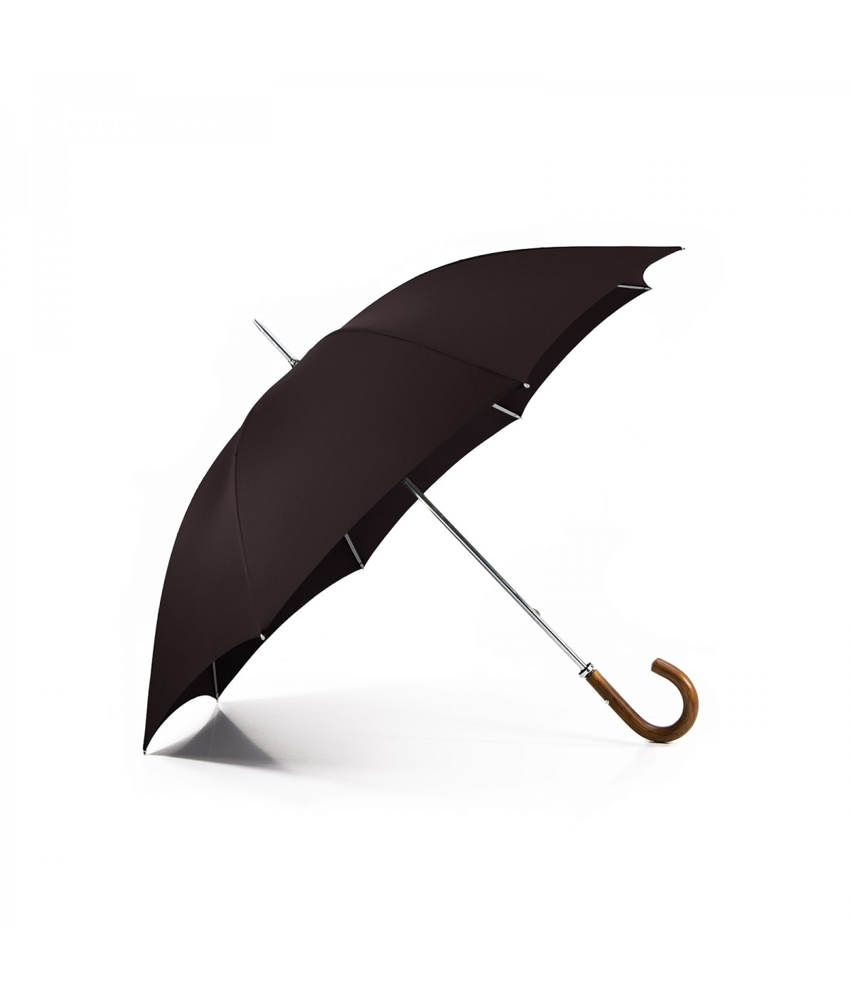 "→ Parapluie ""Le Golf"" - Chocolat - Fabrication Traditionnelle artisanale"