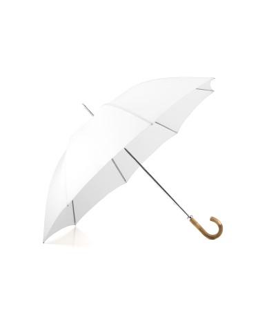 """→ Parapluie """"Le Golf """" Long - Blanc - Fabrication Traditionnelle artisanale  Française depuis 1920 - Maison Pierre Vaux"""