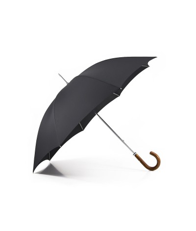 """→ """"The Golf"""" Umbrella - Manual - Rifle - Curved wooden handle - Handcrafted in France by Maison Pierre Vaux"""
