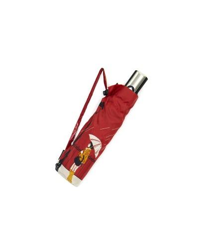 """→ Parapluie """"Tempête Pliant"""" - Rouge -  Parapluie Solide et Résistant"""