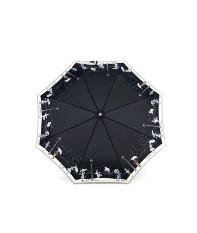 "→  Folding ""Storm"" Umbrella - Automatic Opening/Closing - Black - Maison Pierre Vaux French Umbrella Manufacturer"