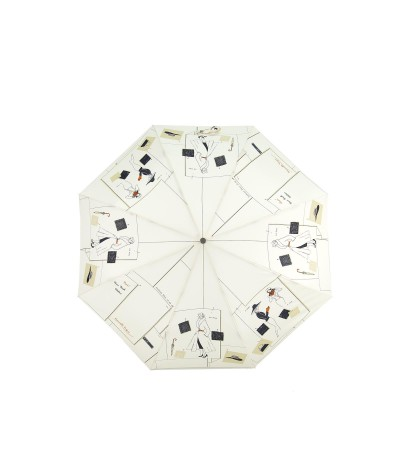 """→ """"New Wave Umbrella"""" White - Folding Automatic Opening/Closing - White by Maison Pierre Vaux French Umbrella Manufacturer"""