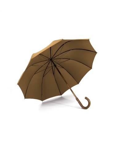 """→ """"The shepherd"""" Umbrella - Camel - Long manual - handcrafted in France by Maison Pierre Vaux"""