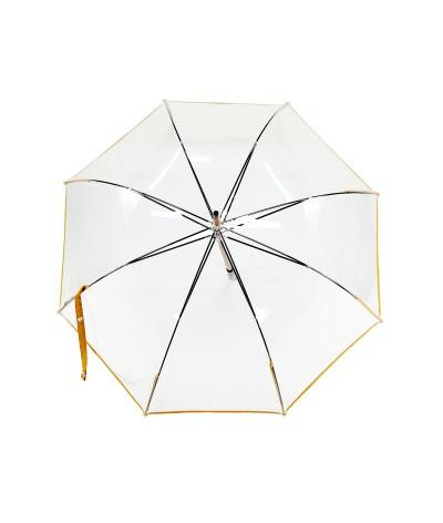 """→ Parapluie """"Transparent Classique"""" - Jaune - Maison Pierre Vaux Fabricant Français"""